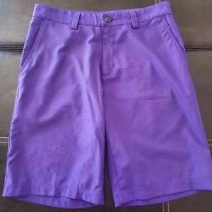 Adidas ClimaLite Golf Shorts 32 W Purple